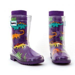 Squelch Wellies Dino Sock