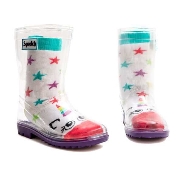 Squelch Wellies Star Unicorn Sock