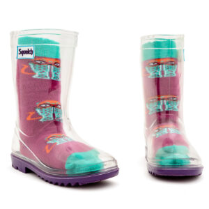 Squelch Wellies Superhero Cats Sock