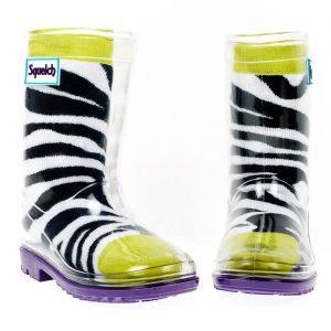 Squelch Wellies Zebra Sock